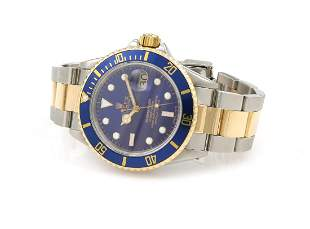 Rolex Submariner Two Tone Blue Watch