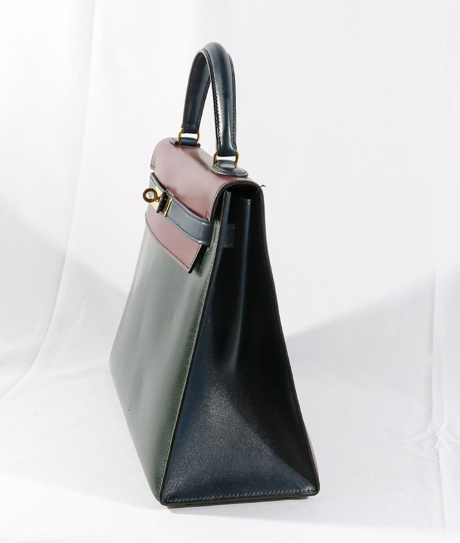 Hermes Tri Color Leather Kelly Bag with Dust Cover - 3