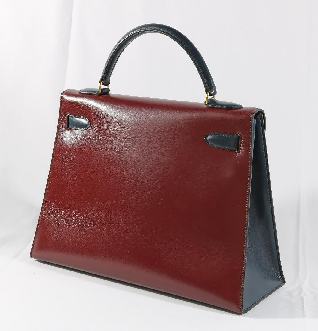 Hermes Tri Color Leather Kelly Bag with Dust Cover - 4
