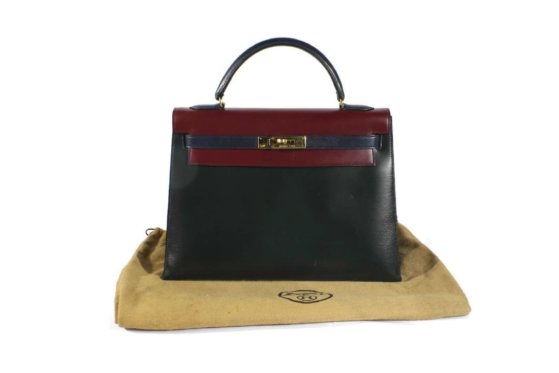 Hermes Tri Color Leather Kelly Bag with Dust Cover - 6