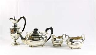 Sterling 4 Piece English Silver Tea Set