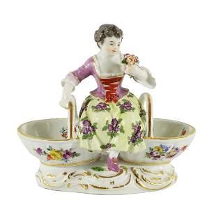 Meissen Porcelian Figural Sweetmeat Dish