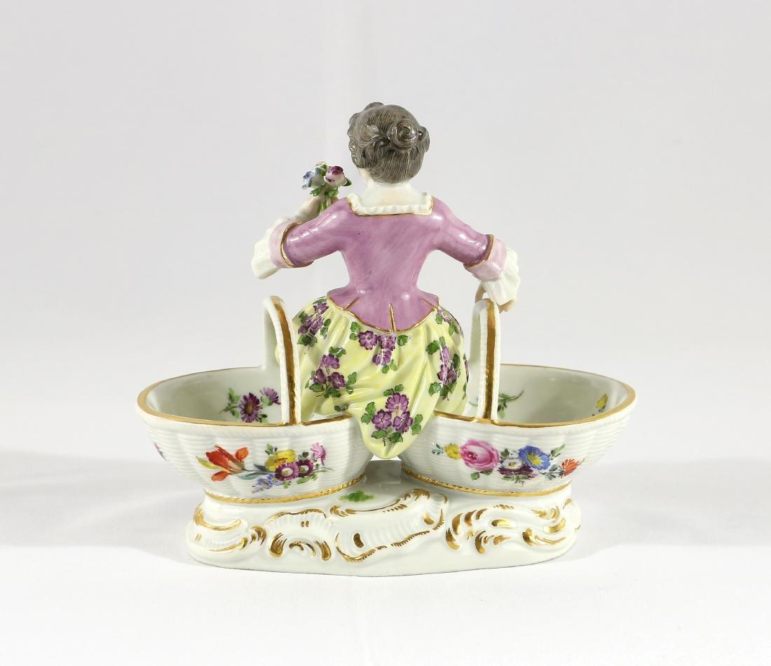 Meissen Porcelian Figural Sweetmeat Dish - 2