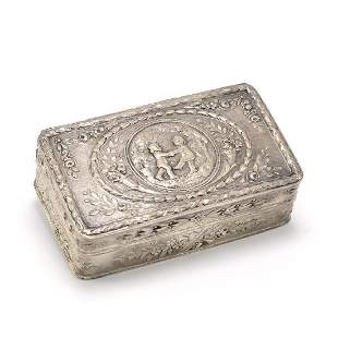 800 Silver Box with Cherub Design- No Reserve