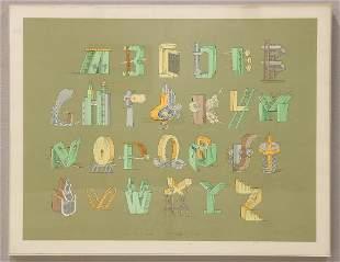 William Crutchfield 26 Emotional Letters Screen Print