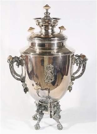 Norbline & Co Warszawa Silver Plated Samovar