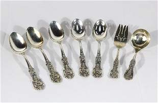 Reed and Barton 7pc Sterling Spoon & Fork Set