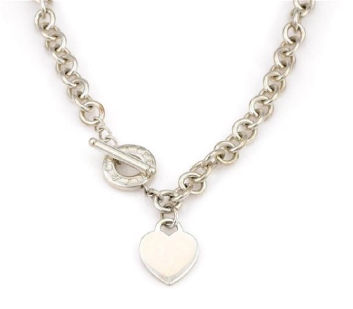 Tiffany Co Sterling Silver Heart Toggle Necklace Feb 06 2019