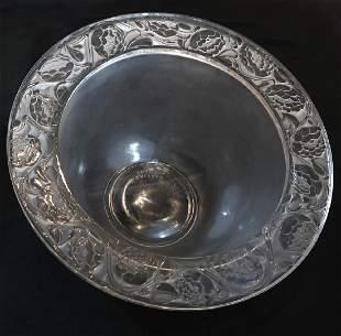 R. Lalique Frosted Glass Cernuschi Bowl