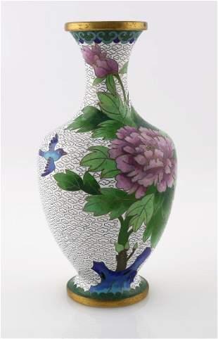Cloisonne Floral Vase - No Reserve