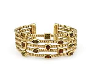 David Yurman 5 Row Confetti Cuff Bracelet