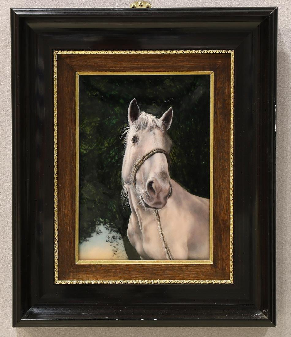 Faure, Fils De Crin Blanc, Limoge Enameled Horse
