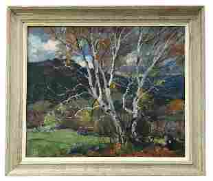 Emile Albert Gruppe (1896–1978) Cloudy Day Branches
