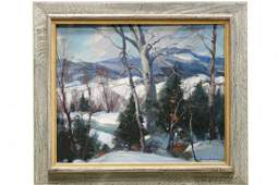 Emile Albert Gruppe 18961978 Winter in Vermont