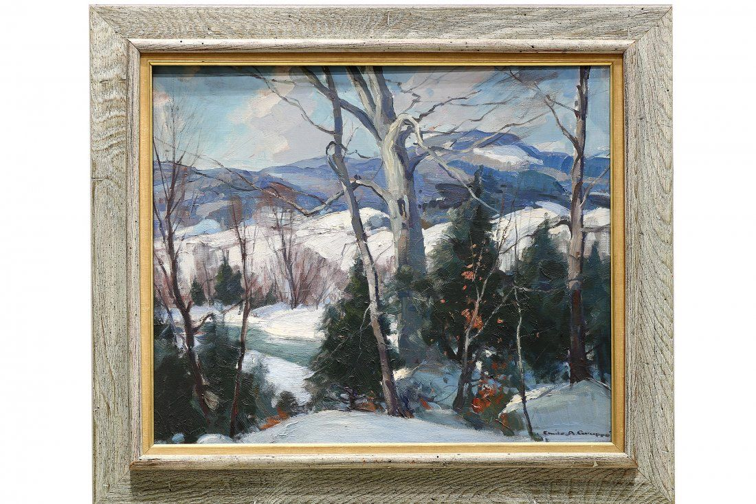 Emile Albert Gruppe (1896–1978) Winter in Vermont