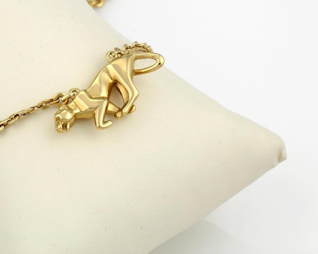 Cartier Yellow Gold La Strada Panther Necklace - 6