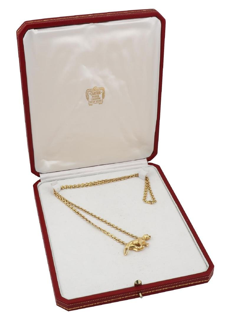 Cartier Yellow Gold La Strada Panther Necklace - 7