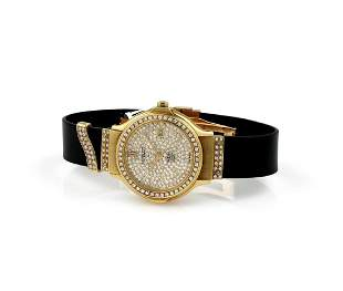 Hublot MDM Yellow Gold Diamond Quartz Watch