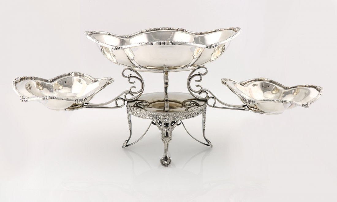 Silverplate Mottahedeh Epergne