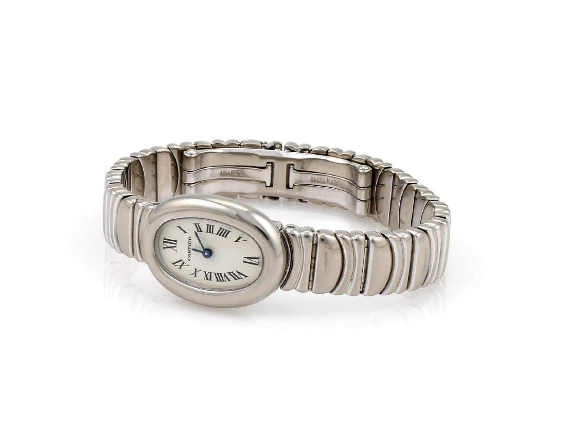 Cartier Baignoire Mini 18K White Gold Watch 2369