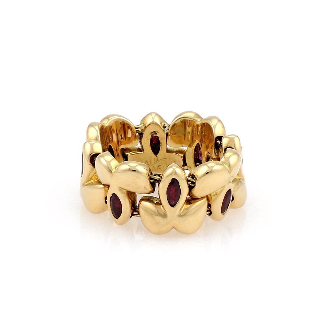 Chaumet Paris Yellow Gold Ruby Flex Ring