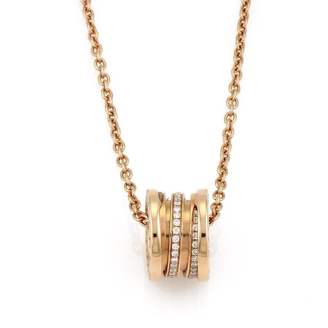 Bvlgari Bulgari B. Zero1 Diamond Pendant Necklace