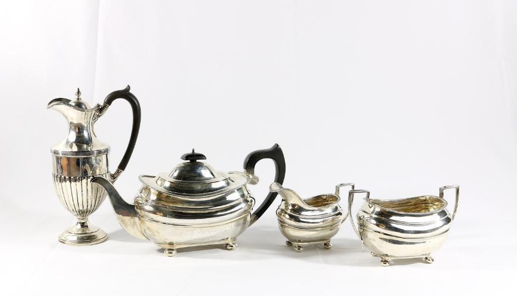 Sterling 4 Piece English Silver Tea Set