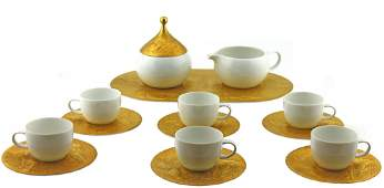 Rosenthal White and gold Magic Flute Expresso Set