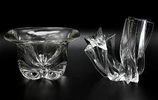 Lot of 2 Crystal Centerpieces
