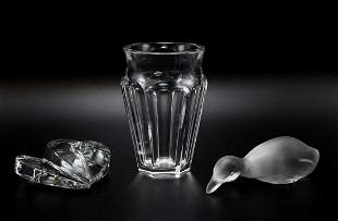 Lot of 3 Baccarat Crystal Pieces