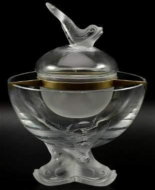 Lalique France Crystal Igor Caviar Dish 1371900
