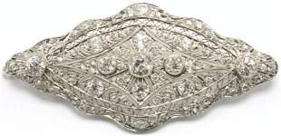 Fabulous Art Deco Platinum Diamond Brooch/Pendant