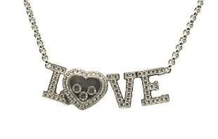 "Chopard ""Love"" 18Kt & Diamond Necklace"