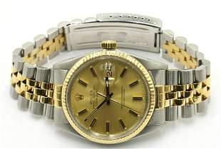 Rolex Datejust 18Kt & Stainless Steel Watch