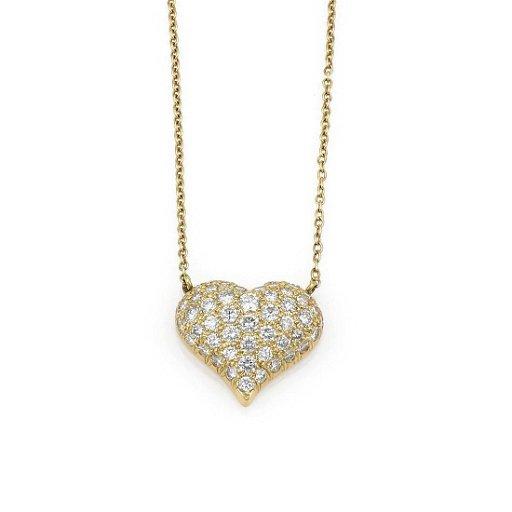 Tiffany Co Pave Diamond Heart Pendant Necklace Nov 06 2019