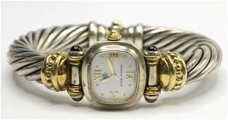 David Yurman 14Kt & Sterling Ladies Watch