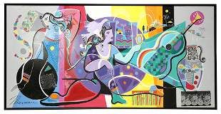 Isaac Maimon Our Secret Acrylic on Canvas