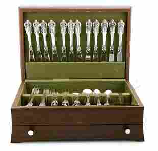 Wallace Grand Baroque Sterling Silver Flatware Set