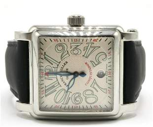 "Franck Muller ""Conquistador"" Stainless Steel Watch"