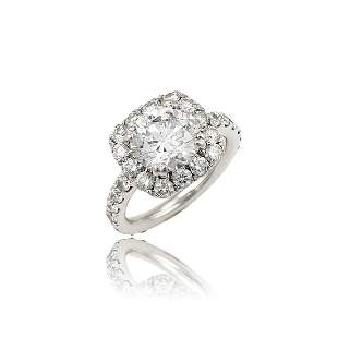 3.35ct Diamond Halo Engagement Ring