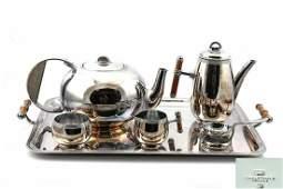 Christofle Silver Plated Deco Tea Set