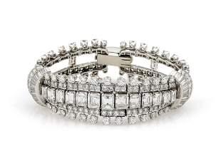 Antique Emerald Cut Diamond Bracelet