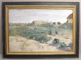 """Eugen Jettel """"Kuchen Garten"""" Gouache"""