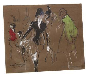LeRoy Neiman (American 1921-2012) Dublin Horse Show