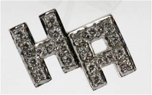 "14Kt ""H A"" 0.65ct. Diamond Initial Pin"