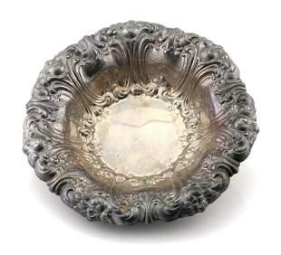 Gorham Silver Floral Design Bowl