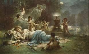 Hans Zatzka (AUSTRIAN, 1859–1945) Oil on Canvas