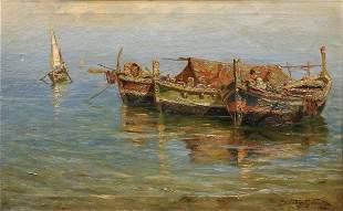 Sabatino Mirabella, (Italian, 1902-1973) Oil on Canvas