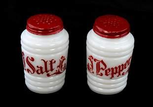 Vintage Depression Glass Hocking Range Salt & Pepper