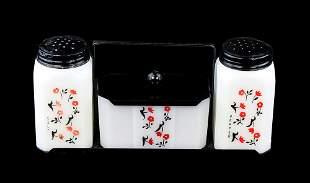 Vintage Depression Glass Salt, Pepper & Butter/Waste